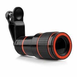 HD 12X Optical Telescope Camera Lens Telescope Universal Cli