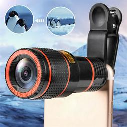 HD 12x Optical Zoom Camera Telescope Lens With Clip For iPho