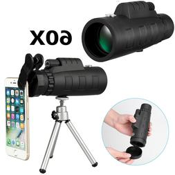 HD 50X60 Zoom Optical HD Lens Monocular Telescope + Tripod +