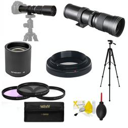 HD TELEPHOTO TELESCOPIC ZOOM LENS 420-1600MM FOR NIKON D3400