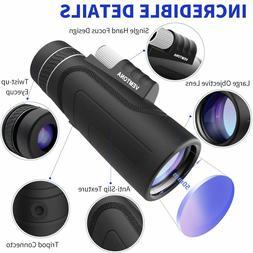 High Power 10X42 HD Monocular Optics Telescope Outdoor Trave