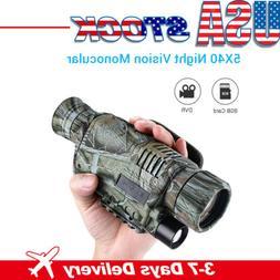 Infrared Dark Night Vision 5X40  Monocular Binoculars Telesc