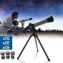 For Kids Beginners Astronomy Telescope With Tripod 20X 30X 4