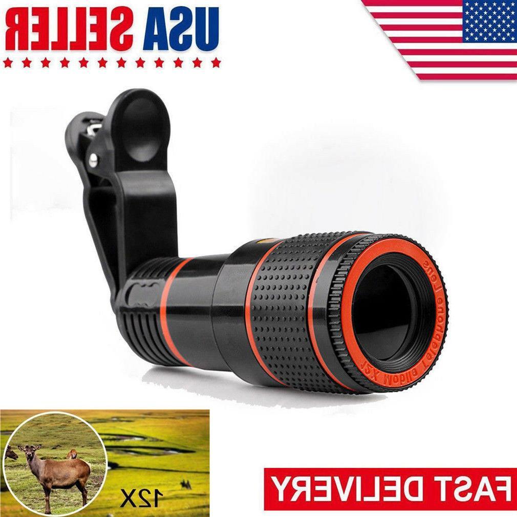 12x optical zoom lens telescope telephoto clip