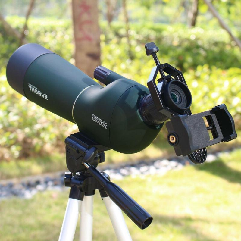 20 60x60 sv28 telescope zoom monocular spotting