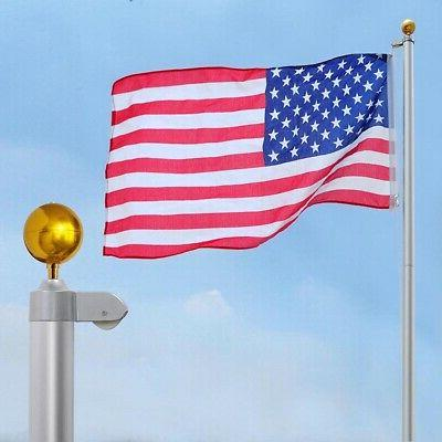 20 FT Heavy Duty Flag Pole Inground Residential Flagpole Kit