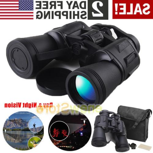 30x50 Zoom Day Night Vision Outdoor Travel HD Binoculars Hun
