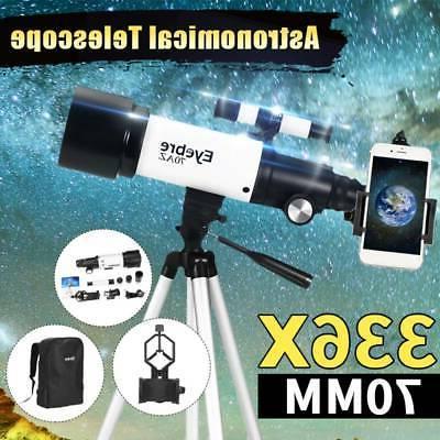 336X 70mm Professional Telescope Refractor & Tripod
