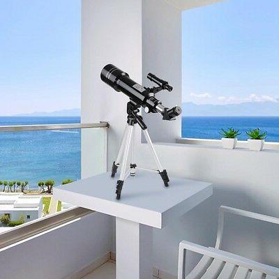 70mm Astronomical Refractor Refractive Eyepieces Tripod Beginners