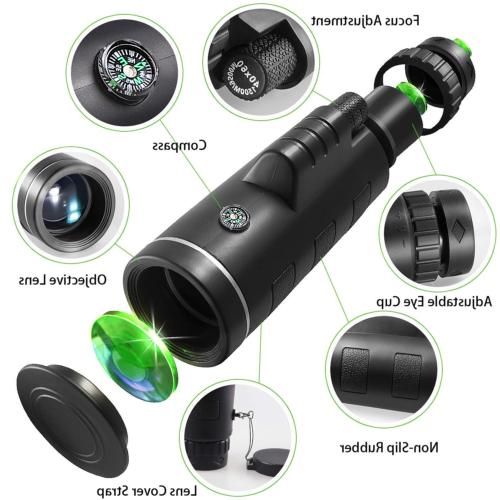 Monocular Telescope+Tripod+Clip Travel Hunting