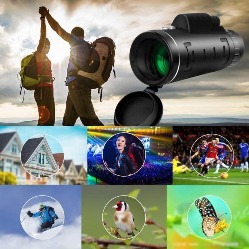 40X60 Optical Monocular Telescope+Tripod+Clip for Travel Hunting