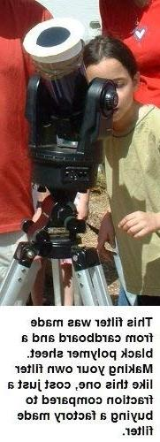 """6""""x6"""" Solar Filter Sheet for Telescopes, Binoculars and Came"""