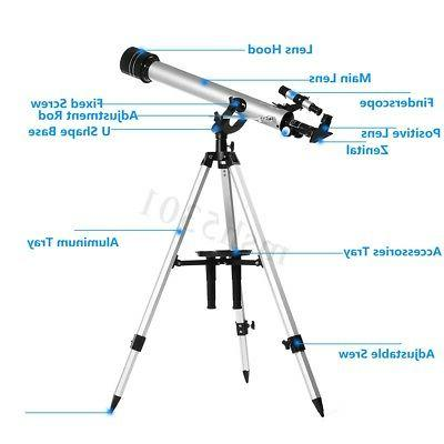 700/60mm 525X Professional Refractive Astronomical Telescope