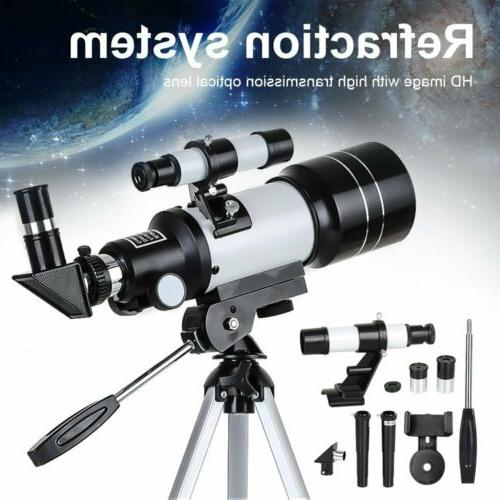 70mm 150x professional astronomical telescope refractor w