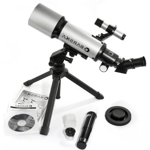BARSKA 400x70mm Refractor Telescope w/ Tabletop &