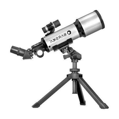 BARSKA Starwatcher 400x70mm Refractor Telescope w/ Tabletop