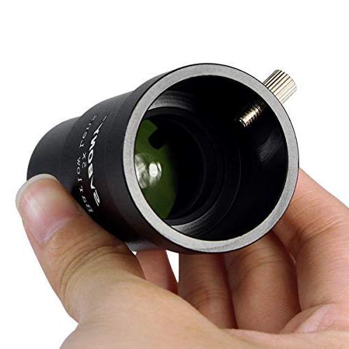 "SVBONY Barlow Lens 5x 1.25"" Multi Coated Optics Three Element APO Times Magnify for Telescope Eyepiece"