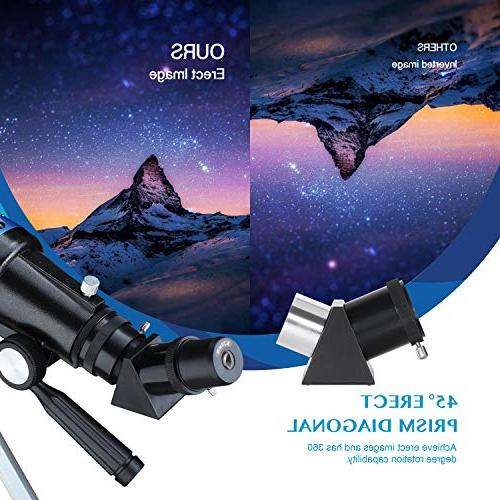 Aomekie for Adults Kids Beginners Refractor with Tripod 10X Adapter 3X and Backpack