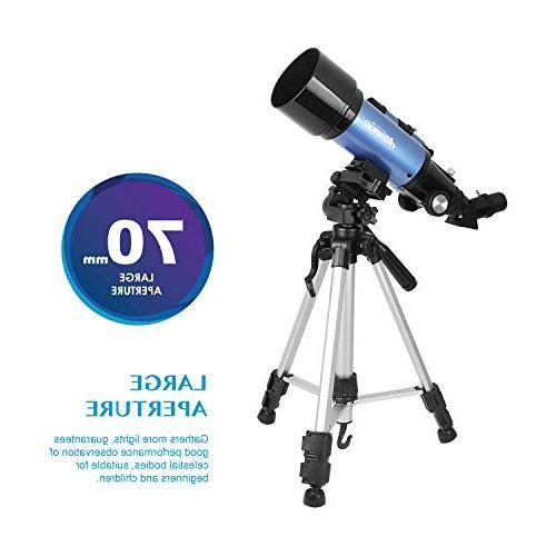Aomekie Telescope Kids Astronomy Refractor with Tripod Adapter 3X Barlow and