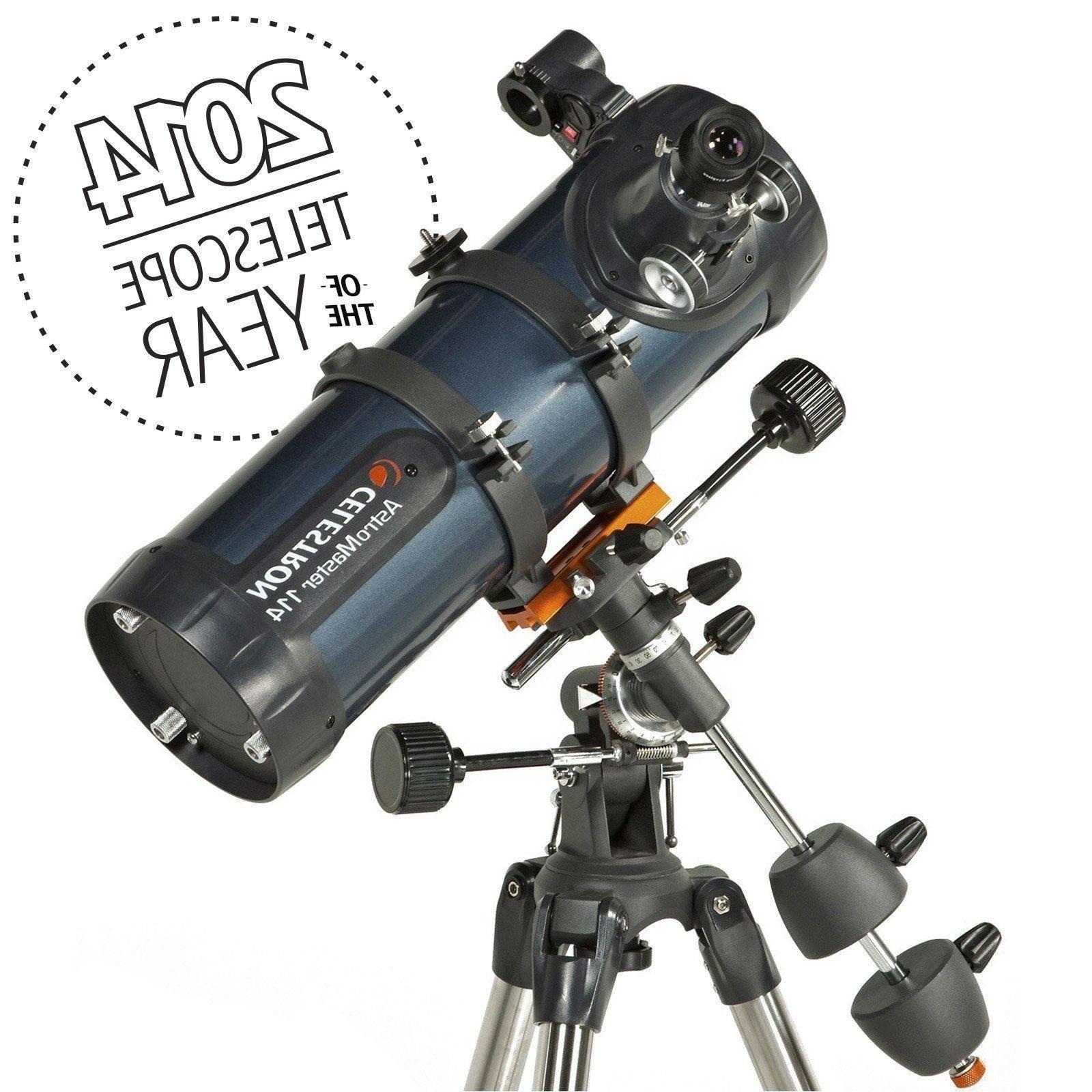 Celestron AstroMaster 114EQ Reflector Telescope Planetarium Tripod New