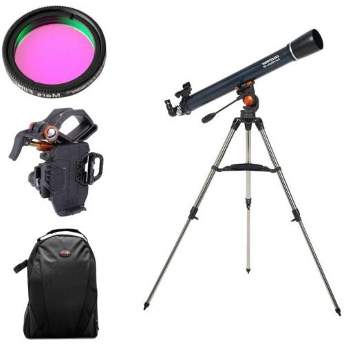 astromaster 90 az telescope with observing filter