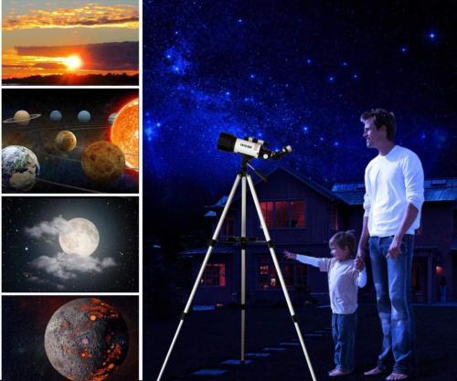 Astronomical Telescopes Travel Scope 70mm Aperture 400mm AZ