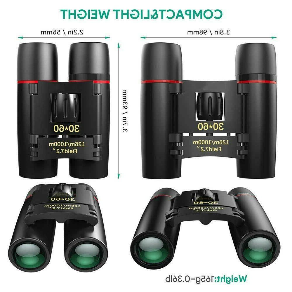 Binoculars 30x60 Zoom Travel Folding Hunting Day/Night