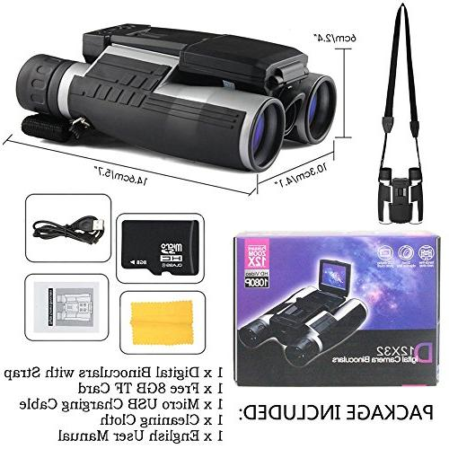 Ansee Binoculars Camera Telescope Photo Recorder with 8GB for Watching Game Concert