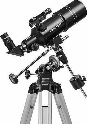 Brand New 80ST Equatorial Refractor Telescope