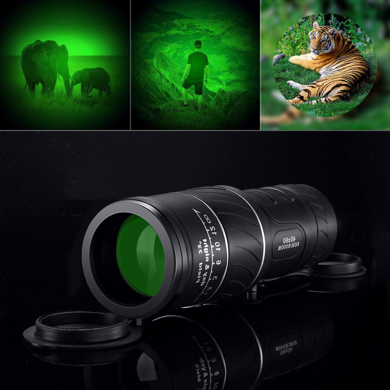 Day Night 40*60 Zoom Hunting Binoculars Powerful BAK-4 Hunti