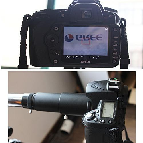 """Gosky Adapter for EOS/Rebel Prime Focus and Variable Eyepiece Photography Standard Accepts 1.25"""" Eyepieces"""