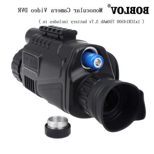 "WG-37 1.44"" Monocular Zoom Night Vision Scope Binoculars 5x4"