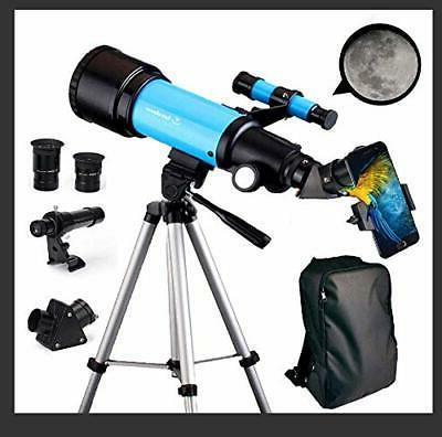 EastPole Telescope for Kids Adults Astronomy Beginners 70mm
