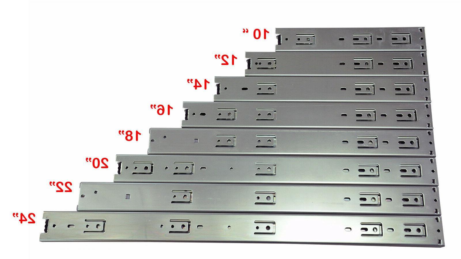 heavy duty 3 section drawer sliding rail