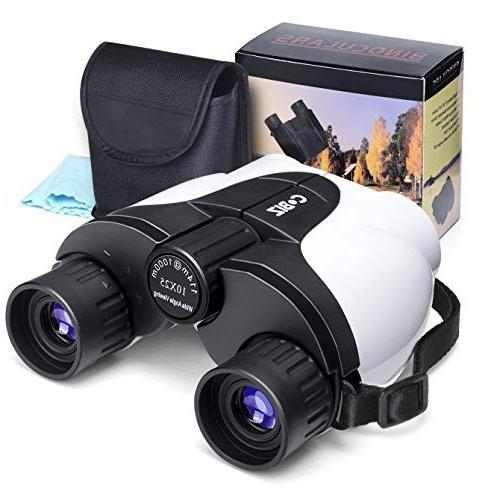 kids binoculars cobiz 10x25 outdoor folding spotting telesco