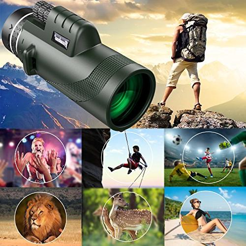 Pankoo Telescopes High Power HD Focus Scope for Bird Watching,Wildlife,Traveling,Concert,Sports Adapter&Tripod …