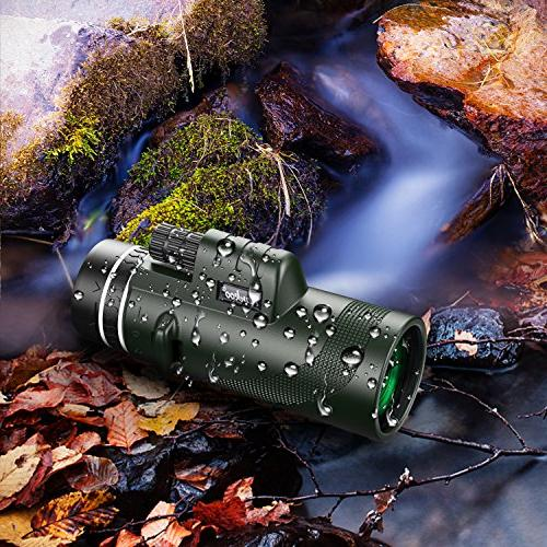 Pankoo Telescopes 40x60 High Monocular for Game,Gifts for Adults with Adapter&Tripod