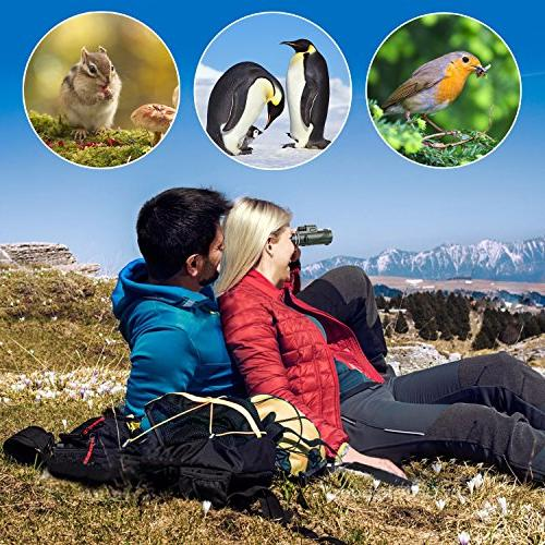 Pankoo Telescopes High Prism Monocular HD Dual for Bird Watching,Wildlife,Traveling,Concert,Sports for Adapter&Tripod …