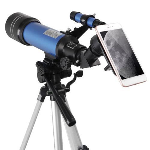 Portable Refractor Telescope Travel Scope w/ Holder