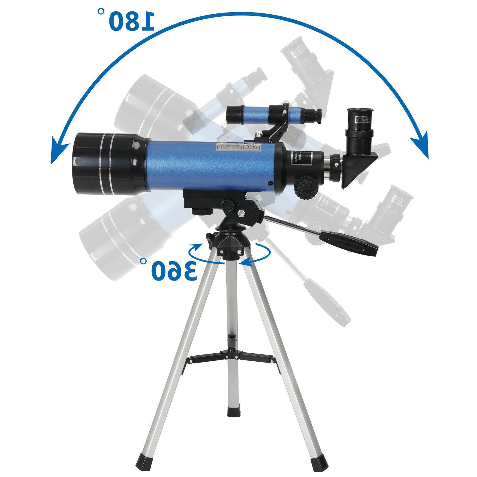 70mm Portable Telescope Travel Eyepieces Tripod
