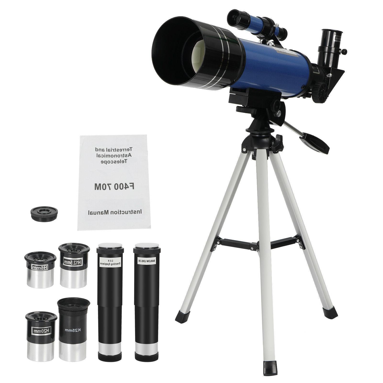 70mm Portable Astronomical Telescope Eyepieces Tripod