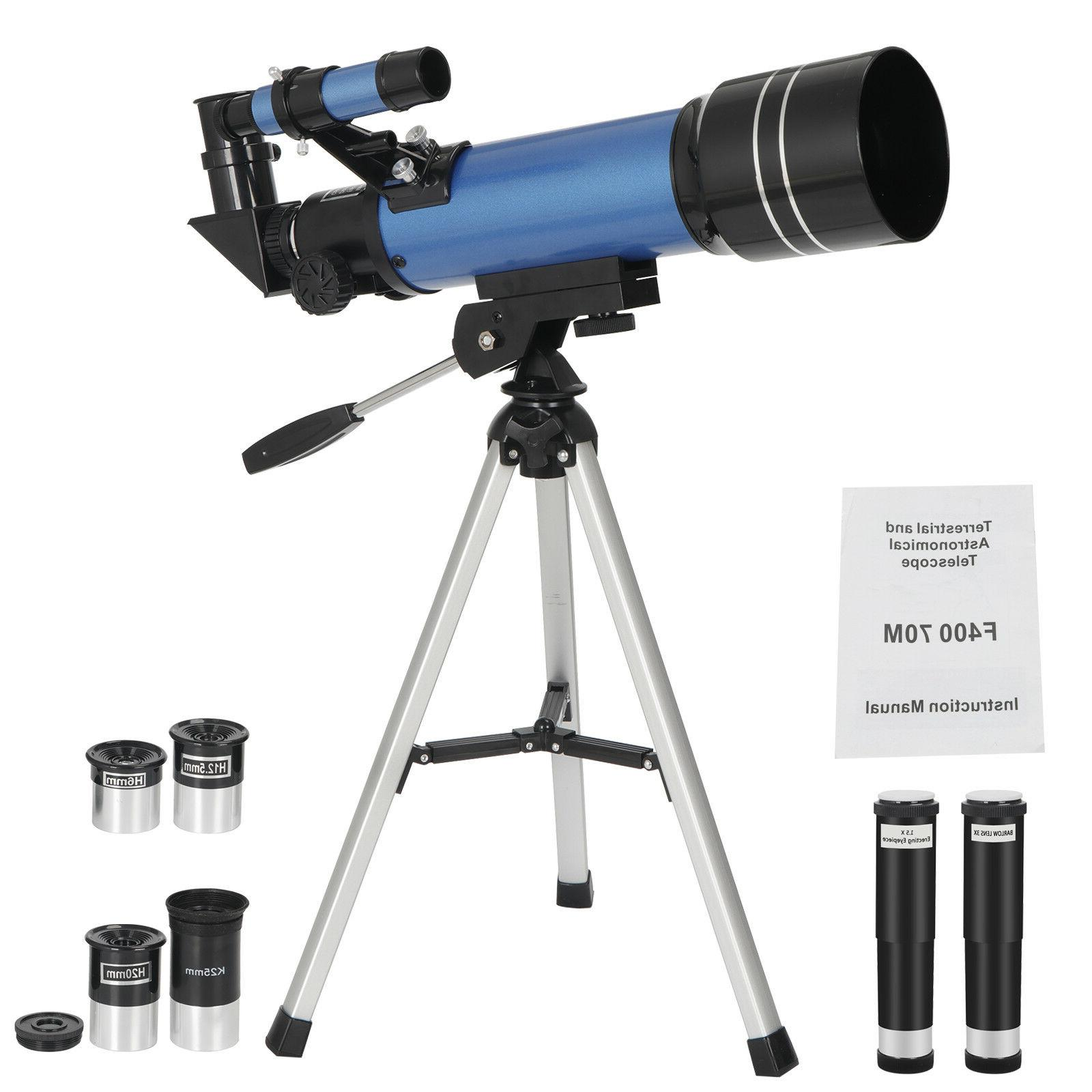 portable astronomical refractor telescope travel scope w