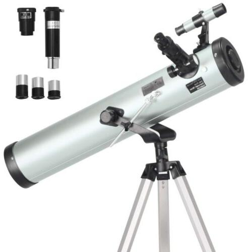 reflector telescope 76mm aperture 700mm 3 eyepieces