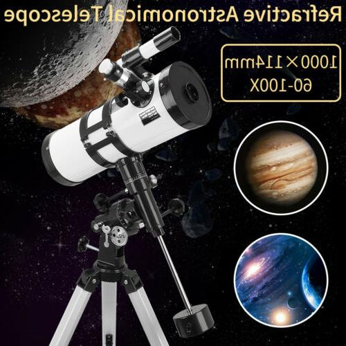 114mm refractive astronomical telescope high definition deep