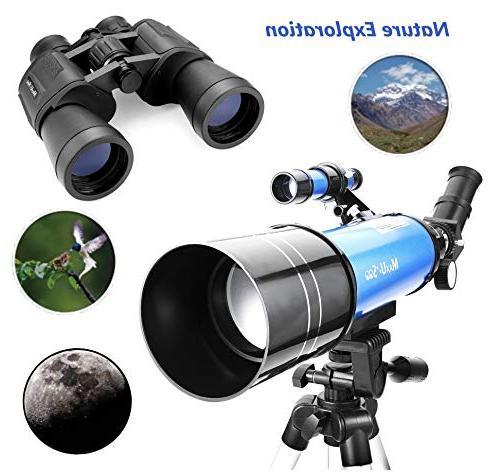 MaxUSee Travel Backpack - 70mm Telescope & Binoculars Moon Bird Sightseeing