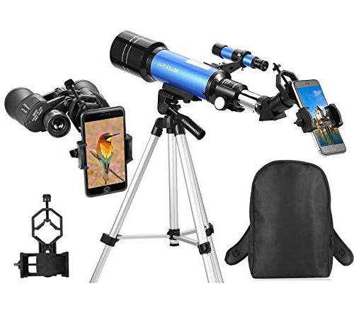 MaxUSee Backpack - 70mm Refractor Telescope Full-size Binoculars for Bird
