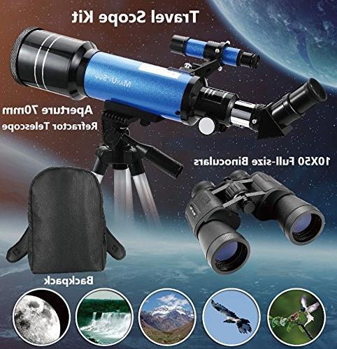 MaxUSee Travel Backpack Telescope Binoculars Viewing Bird Watching Sightseeing