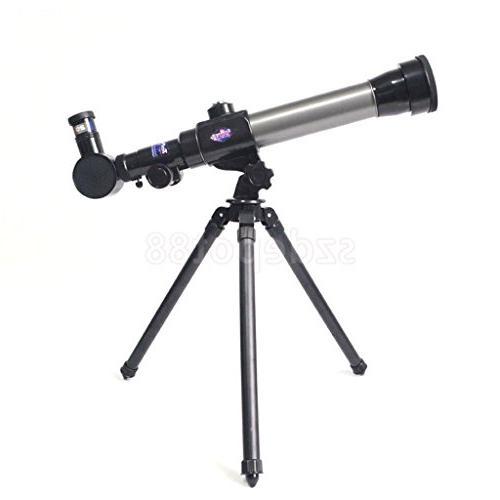 silver astronomical telescope stargazing