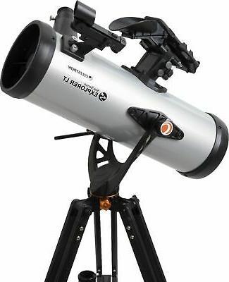 Celestron 114mm Telescope - Silver/B...