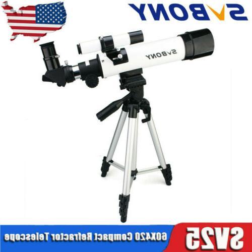sv25 compact refractor telescope 60x420mm travel scope